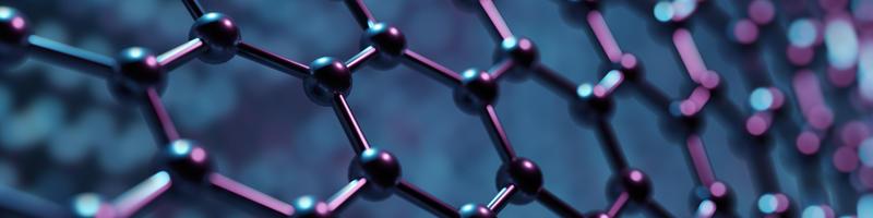 Structure of hexagonal nano material. Nanotechnology concept
