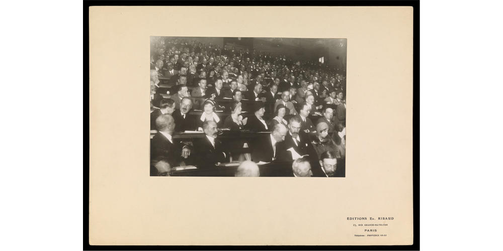 Delegates at the Second International Congress of Microbiology in 1936, London, UK.