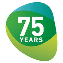 75 Years Microbiology Society logo